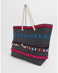 Сумка-тоут С Отделкой Разноцветными Кисточками South Beach, цвет: Multicolor