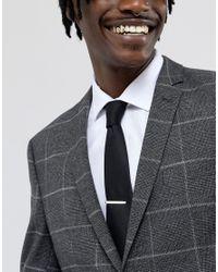 ASOS - Metallic Design Sterling Silver Tie Bar for Men - Lyst