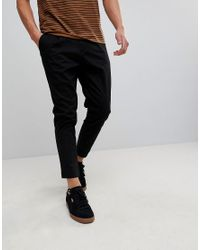 Only & Sons Black Cropped Chinos for men