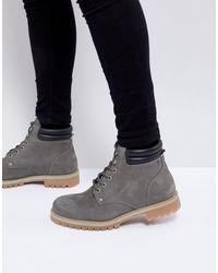 Ботинки Из Нубука -серый Jack & Jones для него, цвет: Gray