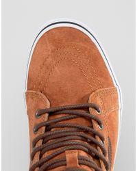 Vans Brown Sk8-hi Mte Sneakers In Red V00xh4jue for men