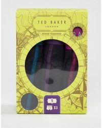 Ted Baker Black Trunks 3 Pack for men