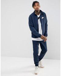 Tuta blu navy 861778-451 di Nike in Blue da Uomo