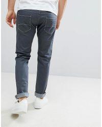 Emporio Armani Gray J06 Slim Fit Grey Wash Jeans for men