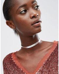ASOS Mini Sleek Metallic Choker Necklace