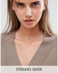 ASOS - Metallic Gold Plated Sterling Silver Bunting Choker Necklace - Lyst