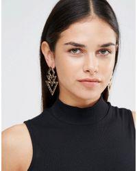 ALDO - Metallic Boughey Statement Earrings - Gold - Lyst