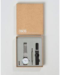ASOS | Multicolor Mesh Interchangeable Strap Watch | Lyst