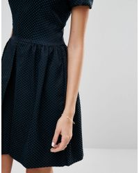 Closet - Blue Closet Polka Pleat Front Dress - Lyst