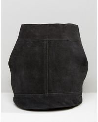 Pieces Black Suede Backpack