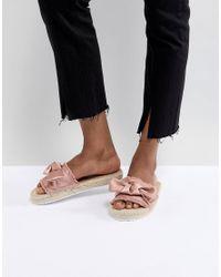Miss Selfridge Pink Bow Espadrille Sandals