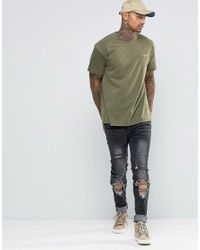Illusive London Green T-shirt With Distressing for men