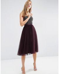 cc6d5721de0bd Lyst - Needle & Thread Coppelia Ballet Dress - Purple in Purple