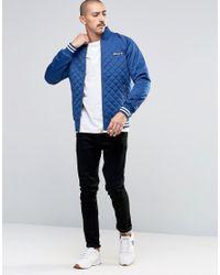 Ellesse Blue Bomber Jacket for men