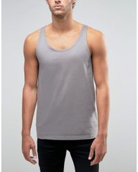 ASOS Gray Tank With Relaxed Fit for men