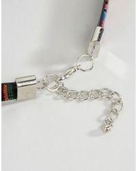 Ashiana - Natural Embellished Tassel Choker Necklace - Lyst