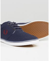 Fred Perry Blue Stratford Canvas Plimsolls - Navy for men