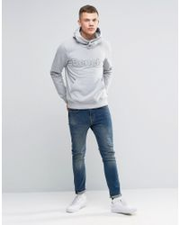 Bench | Gray Overhead Hoodie for Men | Lyst