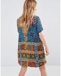 ebonie n ivory Blue Mimosa Swing Dress
