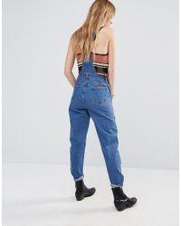 ebonie n ivory Blue Slim Leg Dungarees