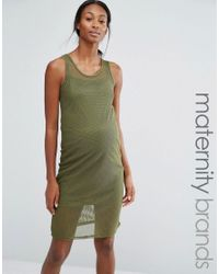 Bluebelle Maternity Green Lounge Bodycon Mesh Dress