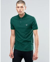 Fred Perry Green Polo Shirt In Ivy for men