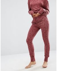 ASOS - Red Lounge Ribbed Neppy Jogger - Lyst
