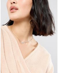 ASOS - Metallic Filigree Pendant Necklace - Lyst