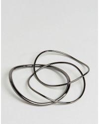 Cheap Monday - Metallic Loop Bangle - Lyst