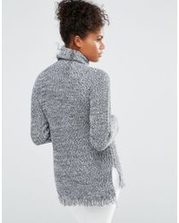 Vero Moda - Blue Roll Neck Sweater - Lyst