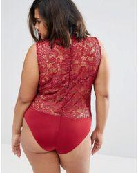 Club L Red Plus Lace Body