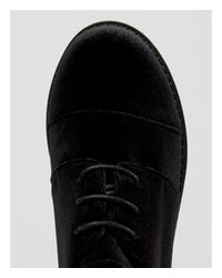 ASOS | Black Obaca Chunky Velvet Lace Up Shoes | Lyst
