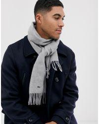 Écharpe en maille - Gris Lacoste pour homme en coloris Gray
