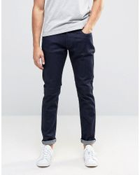 Armani Jeans Blue J06 Slim Fit Jeans In Stretch Rinse Wash - Rinse for men