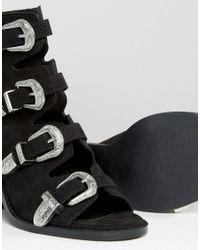 ASOS Black Tarvo Western Heeled Sandals