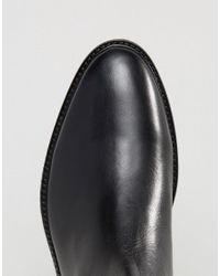 Dune Chelsea Buckle Boots In Black Leather for men