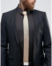 Féraud - Brown Gianni Knitted Tie In Tan for Men - Lyst