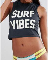 Billabong Black Surf Vibes Rash Vest