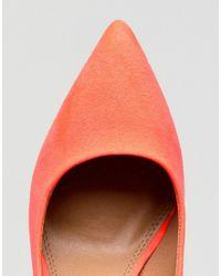 ASOS - Pink Design Paris Pointed High Heels - Lyst