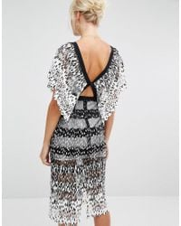 Foxiedox Deville Midi Dress With Cut Out - White