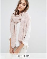 Stitch & Pieces - Pink Soft Knit Long Line Scarf - Blush - Lyst
