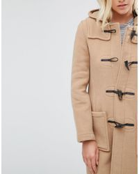 Gloverall - Natural Long Slim Duffle Coat In Camel - Lyst