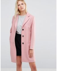 Gloverall | Chesterfield Coat In Pink | Lyst