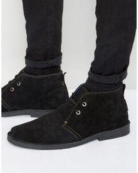 Ben Sherman | Black Mocam Desert Boots for Men | Lyst