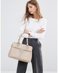 Modalu - Natural Leather Pippa Tote Bag - Lyst