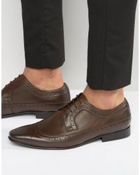 Frank Wright | Brogue Wing Tip Shoes In Brown for Men | Lyst