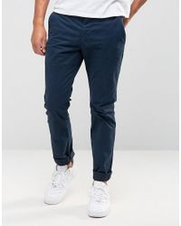French Connection | Blue Rifle Stretch Satain - Navy for Men | Lyst