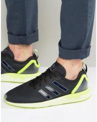 Adidas Originals Black Zx Flux Adv Trainers for men