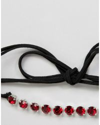 Krystal - Pack Of 2 Swarovski Crystal Choker Necklaces - Black - Lyst