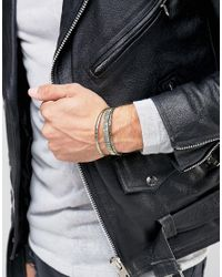 ASOS | Metallic Engraved Bangle Pack In Burnished Finish for Men | Lyst